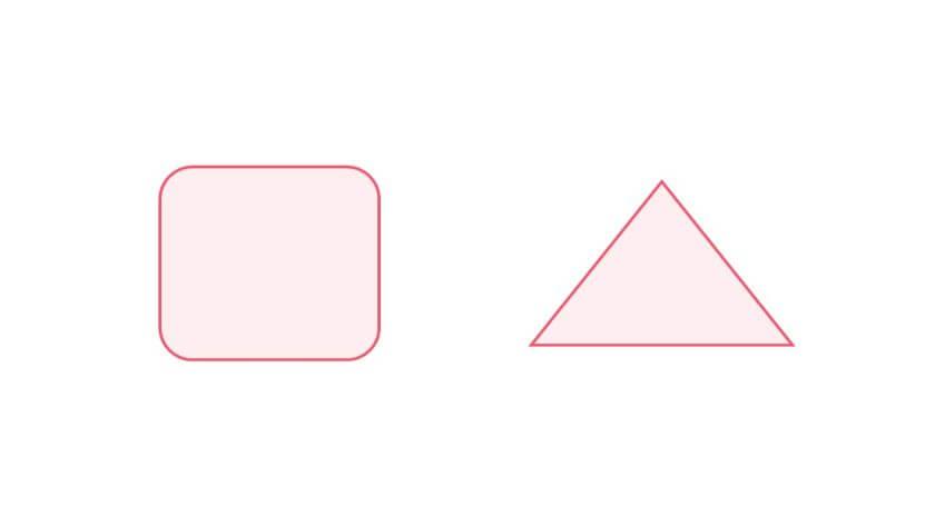書式をコピーして同じ色になった2つの図形