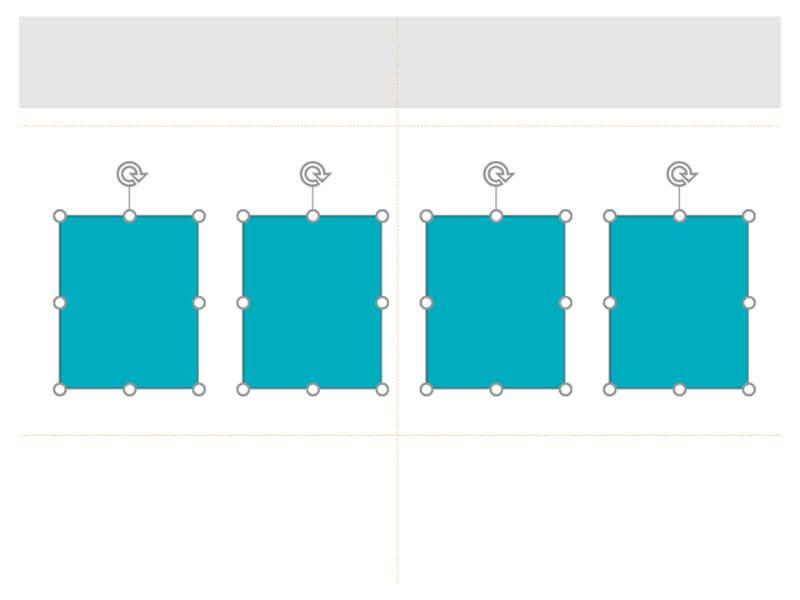 整列したパワーポイントの図形