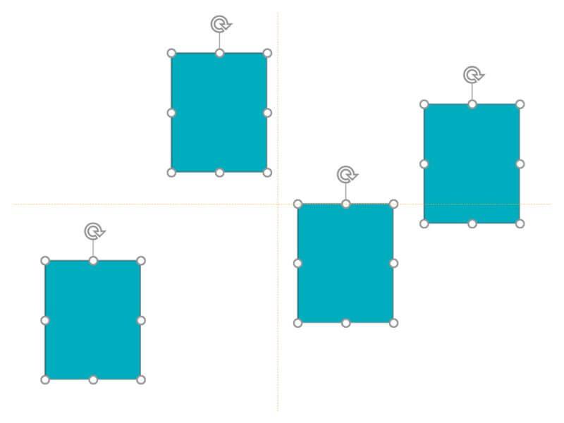 等間隔のパワーポイントの図形