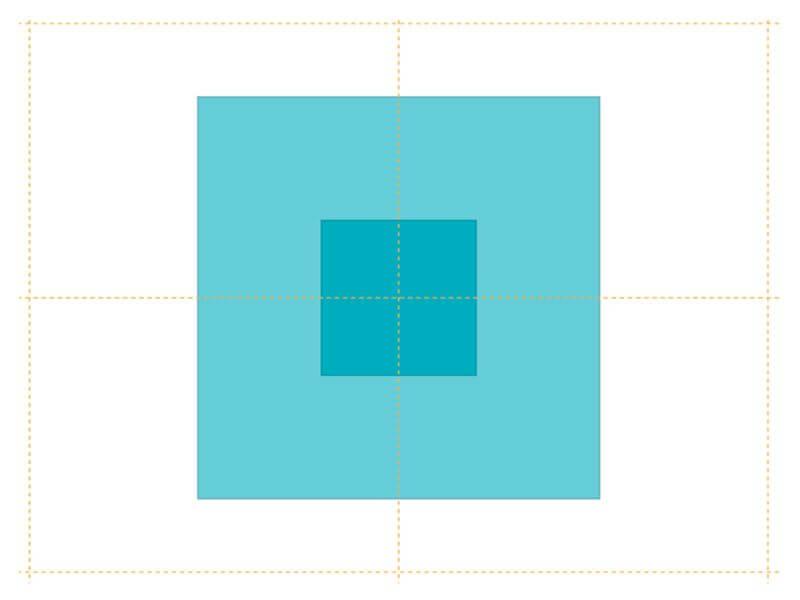 パワーポイントの図形を中心を軸にサイズ変更する方法